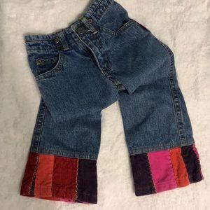 Vintage Carter's Flower Patchwork Jeans 2T